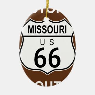 Missouri Historic Route 66 Ceramic Oval Ornament