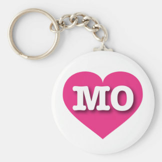 Missouri hot pink heart - Big Love Basic Round Button Keychain