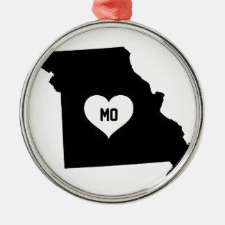 Missouri Love Metal Ornament