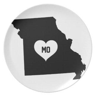 Missouri Love Plate