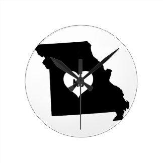 Missouri Love Round Clock
