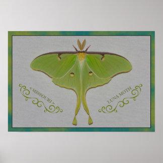 Missouri Luna Moth. Poster