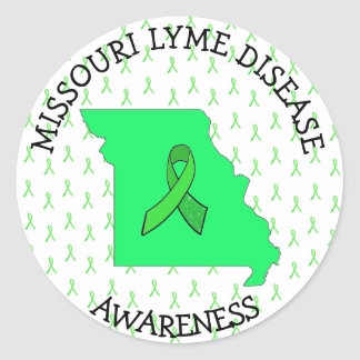 Missouri Lyme Disease Ribbons Awareness Stickers