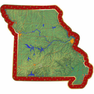 Missouri Map Christmas Ornament Cut Out