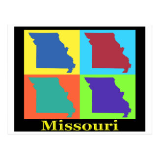 Missouri Map Postcard