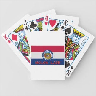 Missouri Molon Labe Bicycle Playing Cards