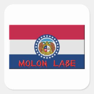 Missouri Molon Labe Square Sticker