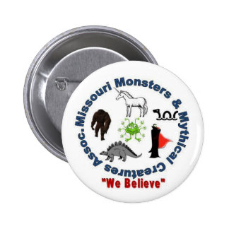 Missouri Monsters & Mythical Creatures Logo 2 Inch Round Button