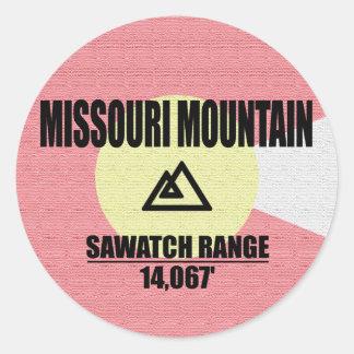 Missouri Mountain Classic Round Sticker