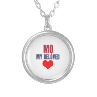 Missouri my beloved design silver plated necklace