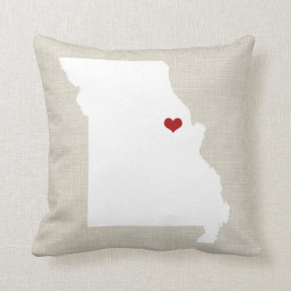 "Missouri New Home State Pillow 16"" x 16"""