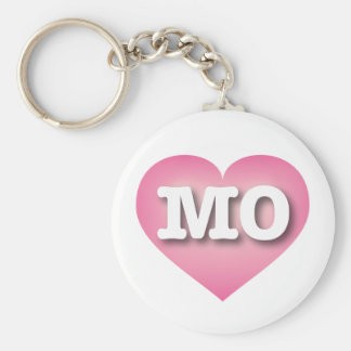 Missouri pink fade heart - Big Love Basic Round Button Keychain