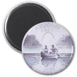 Missouri Quarter Original Artwork 2 Inch Round Magnet