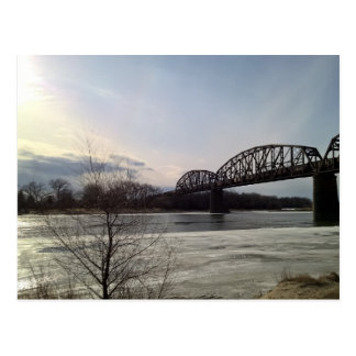 Missouri River Train Bridge Postcard