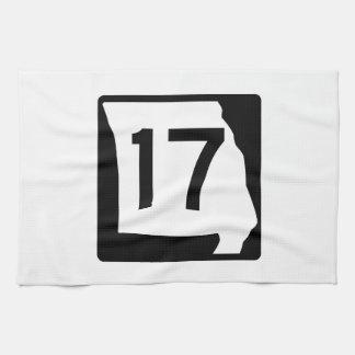 Missouri Route 17 Kitchen Towel