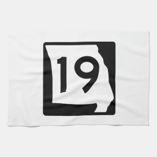 Missouri Route 19 Towel