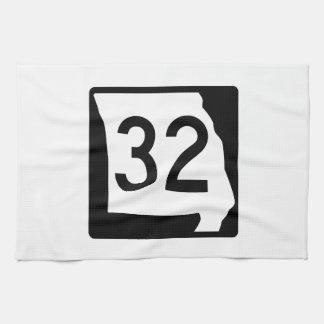 Missouri Route 32 Hand Towels