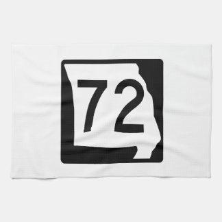 Missouri Route 72 Kitchen Towels