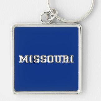 Missouri Silver-Colored Square Keychain