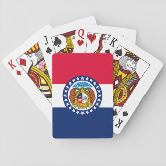 Missouri State Flag Design Playing Cards