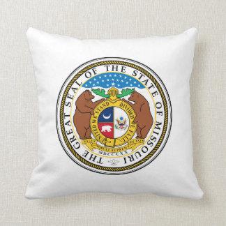 Missouri state seal america republic symbol flag throw pillow