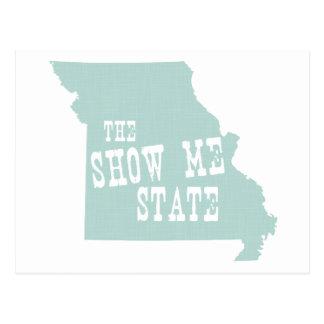 Missouri State Slogan Motto Postcard