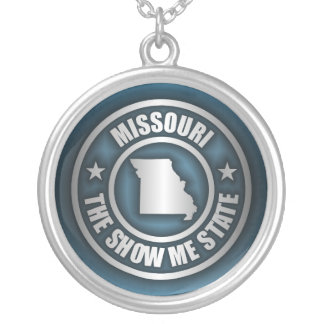 """Missouri Steel (Blue)"" Necklace"