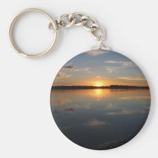Missouri Sunset Basic Round Button Keychain