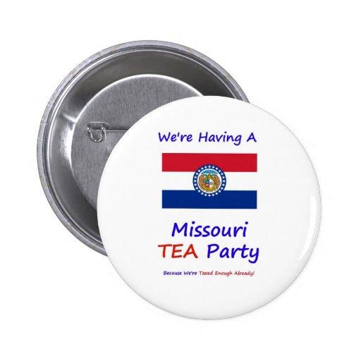 Missouri TEA Party - We're Taxed Enough Already! Buttons