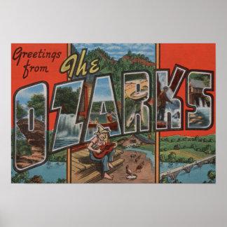 Missouri - The Ozarks - Large Letter Scenes 2 Poster