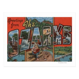 Missouri - The Ozarks - Large Letter Scenes Postcard