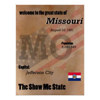 Missouri The Show Me State Classic Poster