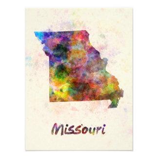 Missouri U.S. state in watercolor Art Photo