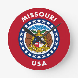 Missouri USA Round Clock