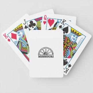 missouri wagon wheel bicycle playing cards