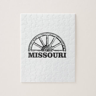 missouri wagon wheel jigsaw puzzle
