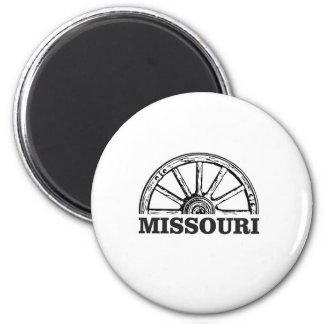 missouri wagon wheel magnet