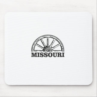 missouri wagon wheel mouse pad