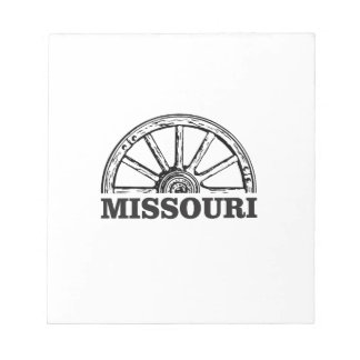 missouri wagon wheel notepad