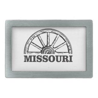 missouri wagon wheel rectangular belt buckle