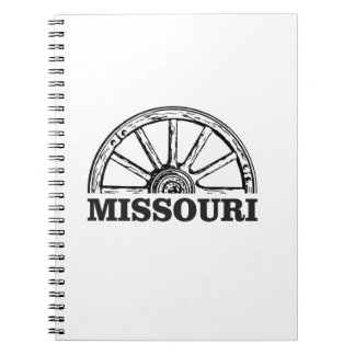 missouri wagon wheel spiral notebook