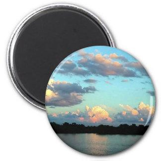 Missssiippi River Sunset Magnet