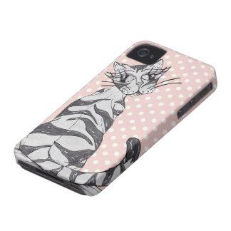 Missy Cat 02 iPhone 4 Cover