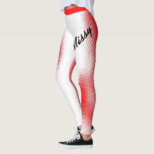 Missy in Large Text with Dot Pattern on Your Colou Leggings