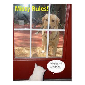 Missy Rules! Postcard