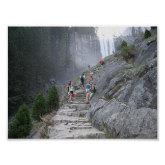 mist trail at yosemite poster