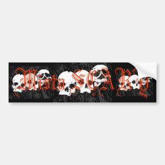 Mista SCARY Skulls Logo Bumpersticker - Customized Bumper Sticker
