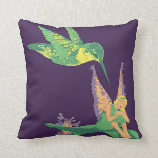 Mistaken Identity Pillow - Hummingbird & Fairy