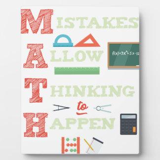 Mistakes Allow Thinking To Happen Math Teacher Plaque