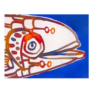 Mister Blue Fish postcard